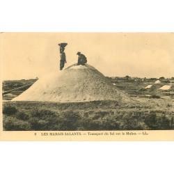 44 LES MARAIS SALANTS. Transport du Sel sur le Mulon