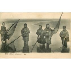 76 DIEPPE. Pêcheurs et Pêcheuses de Crevettes 1922