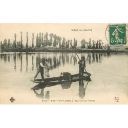 03 VICHY. Pêche à l'épervier sur l'Allier 1908