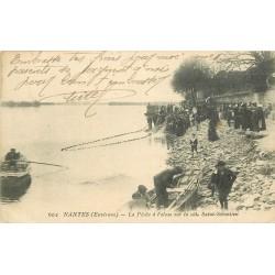 44 NANTES environs. Pêche à l'Alose côte Saint-Sébastien 1918