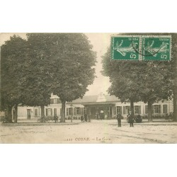 58 COSNE COURS SUR LOIRE. La Gare 1912