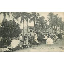 SENEGAL. Saint-Louis un coin du Marché indigène vers 1900