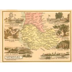 SENEGAL. Carte notice 11,5 x 9 cm