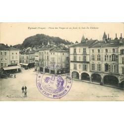 88 EPINAL. Cafés du Commerce et du Globe Place des Vosges 1915