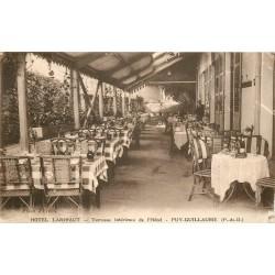 63 PUY-GUILLAUME. Terrasse Hôtel Larivaut 1937