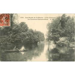 94 LA VARENNE CHENNEVIERES. Canotage et Restaurant sur l'Île d'Amour 1911