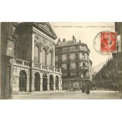 73 CHAMBERY. Attelage livraison pains de glace au Théâtre rue d'Italie 1917