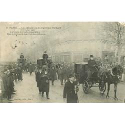 75 PARIS. Les Obsèques du Cardinal Richard 1908 voiture de deuil des deux officiants Editions Gondry