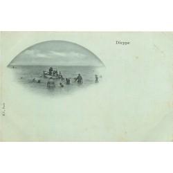 76 DIEPPE. Une leçon de natation avec Maîtres nageurs vers 1900
