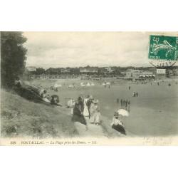 17 PONTAILLAC Royan. Elégantes avec ombrelles sur les Dunes 1910