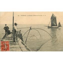 17 FOURAS-LES-BAINS. La Fumée et la Pêche au Carrelet 1909