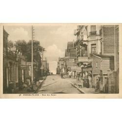 """62 BERCK-PLAGE. Horlogerie et Hôtel Restaurant """" Du Banquet """" rue des Bains 1926"""