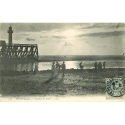 carte postale ancienne 14 TROUVILLE. Coucher de Soleil 1907