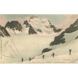 38 OISANS. Alpinistes sur la Barre des Ecrins 1903