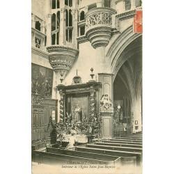 52 CHAUMONT. Femme à genoux en prière à l'Eglise Saint-Jean-Baptiste 1910