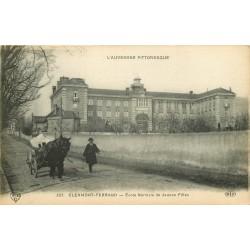 63 CLERMONT-FERRAND. Attelage Marchand de glace et Ecole Normale de Jeunes Filles