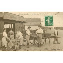 17 LE CHAPUS. Emballage des Huîtres de Marennes société Normandin Roy 1913