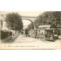 63 ROYAT. Train Tramway sous le Pont Avenue de Clermont-Ferrand