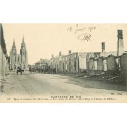 51 LEPINE & L'EPINE. Les ruines après passage des Allemands 1915