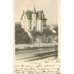23 GUERET. Superbe Villa et ligne du chemin de fer 1902