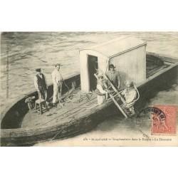 44 SAINT-NAZAIRE. Descente du Scaphandrier dans le Bassin 1907