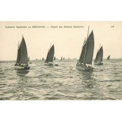 29 BRETAGNE. Industrie Sardinière Départ des Bateaux Sardiniers