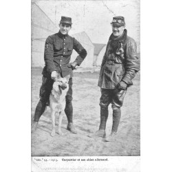 AVIATION. Aviateur Carpentier et Chien allemand