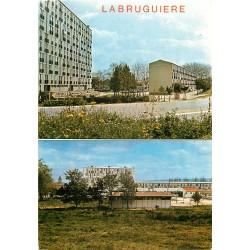 Photo Cpsm Cpm 81 LABRUGUIERE. Nouvelle Cité et Groupe Scolaire 1987
