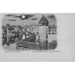 LUZERN LUCERNE. Kapellbrücke und Wasserthurm