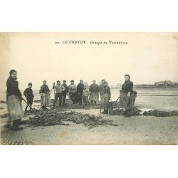 80 LE CROTOY. Groupe de Verrotières