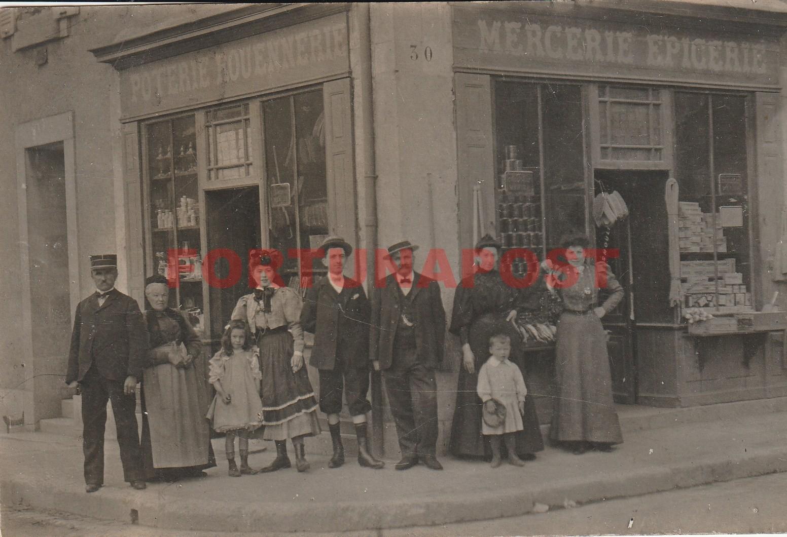 03 COMMENTRY. Mercerie Epicerie Poterie Rouennerie Lardeau Place de la Liberté. Photo Carte Postale