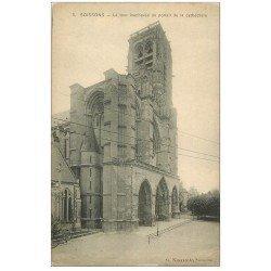 carte postale ancienne 02 SOISSONS. Cathédrale. Tour inachevée du Portail