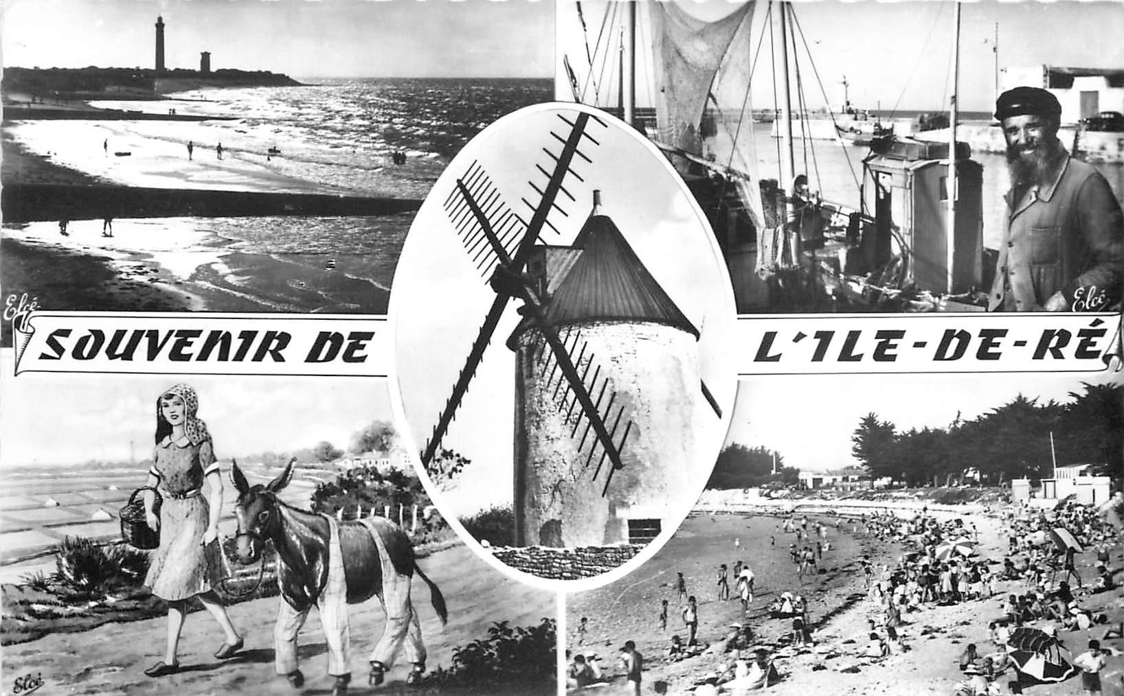17 ILE DE RE. Vieux Moulin 1965