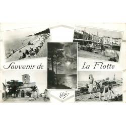 17 SAINT-MARTIN-DE-RE. Souvenir multivues La Flotte 1961