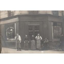PARIS 12° Photo Cpa Maison Devenat vins et liqueurs au 12 rue Th. Rousseau avec tricyle