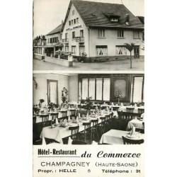 74 CHAMPAGNEY. Hôtel Restaurant du Commerce 1961