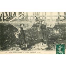 62 BOULOGNE-SUR-MER. Pêcheuse de Crevettes 1910