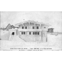 LA CHAUX DE FONDS. Construction de Neige 1906-07. Aux Cretéts Chalet par Kunz
