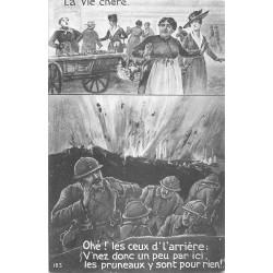 GUERRE MILITAIRES POILUS. La Vie chère 1918