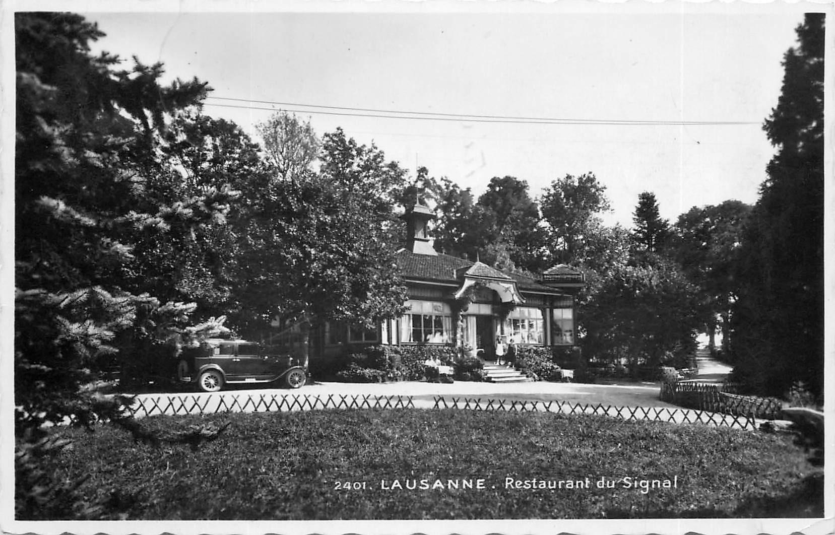 LAUSANNE Restaurant du Signal 1941