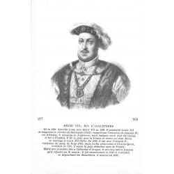 Personnages célèbres. HENRI VIII Roi d'Angleterre