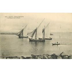 34 CETTE ou SETE. Le Retour des bateaux de Pêche 1909