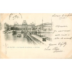 76 LE HAVRE. La Passerelle de la Bourse 1900