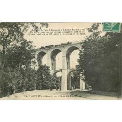 52 CHAUMONT. Avenue du Viaduc avec train ligne Paris à Belfort 1916