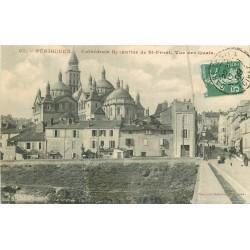 24 PERIGUEUX. Cathédrale Byzantine de Saint-Front vue des Quais 1909