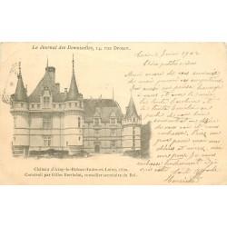 37 AZAY-LE-RIDEAU. Le Château 1902