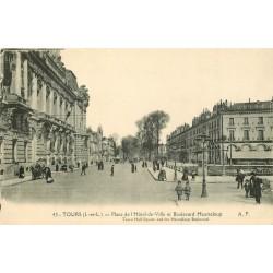 37 TOURS. Place Hôtel de Ville et Boulevard Heurteloup