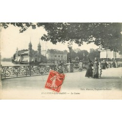 95 ENGHIEN-LES-BAINS. Promeneuses vers le Casino 1918
