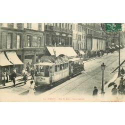 54 NANCY. Tramway électrique rue Saint-Jean au Point Central 1906