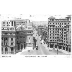 BARCELONA. Banco de Espana y Via Layetana